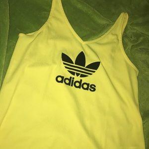 Yellow Adidas V Neck